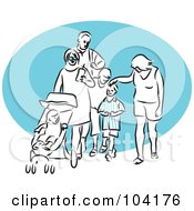 Royalty Free RF Clipart Illustration Of A Happy Family Walking