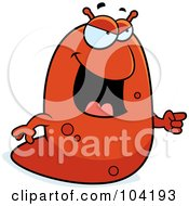 Royalty Free RF Clipart Illustration Of A Mad Slug Yelling And Pointing by Cory Thoman