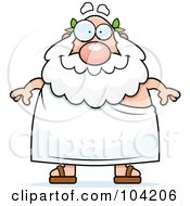 Royalty Free RF Clipart Illustration Of A Chubby Friendly Greek Man