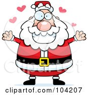 Royalty Free RF Clipart Illustration Of A Chubby Amorous Santa
