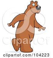 Tall Bear Walking Upright