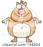 Royalty Free RF Clipart Illustration Of A Chubby Hamster