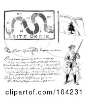 Royalty Free RF Clipart Illustration Of A Digital Collage Of Revolutionary War Items