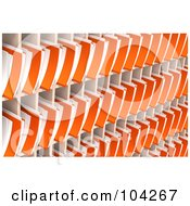 Wall Of Orange 3d Folders And Documents Organized And Archived In Shelves