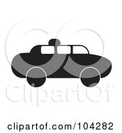 Silhouetted Black Taxi