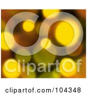 Royalty Free RF Clipart Illustration Of A Yellow Blurred Lights Background