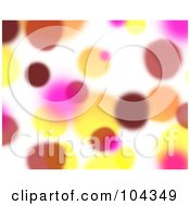 Royalty Free RF Clipart Illustration Of A Yellow Red And Pink Blurred Lights Background