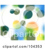 Royalty Free RF Clipart Illustration Of A Green Blurred Lights Background
