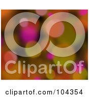 Royalty Free RF Clipart Illustration Of A Colorful Blurred Lights Background