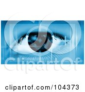 Royalty Free RF Clipart Illustration Of A Machine Scanning A Human Eye by BNP Design Studio