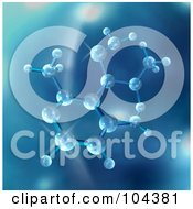 Royalty Free RF Clipart Illustration Of A 3d Blue Molecule Background