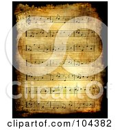 Grungy Antique Sheet Music Background