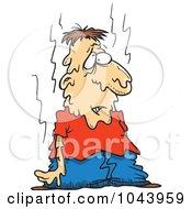 Royalty Free RF Clip Art Illustration Of A Cartoon Hot Man Melting