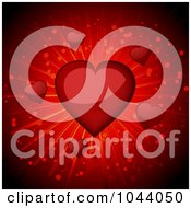 Royalty Free RF Clip Art Illustration Of A Red Shiny Valentine Heart Burst