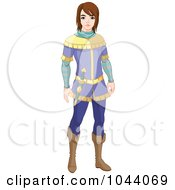 Royalty Free RF Clip Art Illustration Of Prince Charming Standing by Pushkin