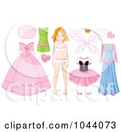 Digital Collage Of A Girl With Fairy Princess Items