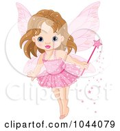 Royalty-Free (RF) Clip Art Illustration of a Cute Fairy Princess In A Pink Tutu by Pushkin #COLLC1044079-0093