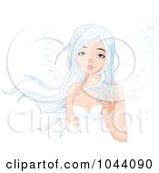 Royalty Free RF Clip Art Illustration Of A Winter Fairy Holding A Snowflake
