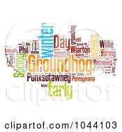 Colorful Groundhog Day Word Collage On White