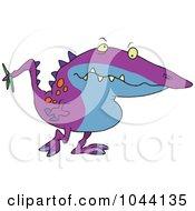 Cartoon Long Nosed Monster