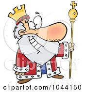 Royalty Free RF Clip Art Illustration Of A Cartoon Friendly King by toonaday