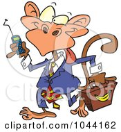 Royalty Free RF Clip Art Illustration Of A Cartoon Business Monkey by toonaday