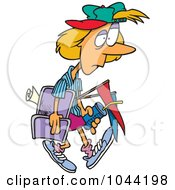 Royalty Free RF Clip Art Illustration Of A Cartoon Tired Soccer Mom by toonaday
