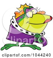 Royalty Free RF Clip Art Illustration Of A Cartoon Frog Queen by toonaday