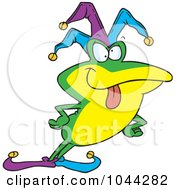 Royalty Free RF Clip Art Illustration Of A Cartoon Frog Fool by toonaday