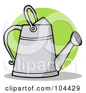 Royalty Free RF Clipart Illustration Of A Metal Gardeners Watering Can