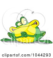 Royalty Free RF Clip Art Illustration Of A Cartoon Frog Waiting For A Fly by toonaday