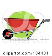 Royalty Free RF Clipart Illustration Of A Red Gardening Wheelbarrow