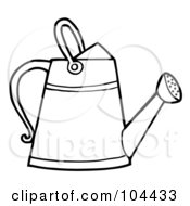 Coloring Page Outline Of A Gardening Watering Can