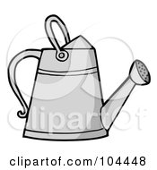 Royalty Free RF Clipart Illustration Of A Metal Gardening Watering Can