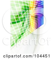 Royalty Free RF Clipart Illustration Of A Colorful Equalizer Wall On White by Arena Creative
