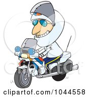 Royalty Free RF Clip Art Illustration Of A Cartoon Motorcycle Cop