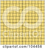 Royalty Free RF Clipart Illustration Of A Yellow Basket Weave Texture Background
