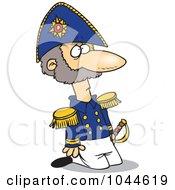 Cartoon Kneeling Soldier