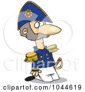 Royalty Free RF Clip Art Illustration Of A Cartoon Kneeling Soldier by toonaday