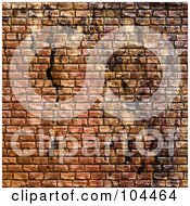 Royalty Free RF Clipart Illustration Of A Grungy Brick Cobblestone Texture Background by Arena Creative