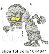 Royalty Free RF Clip Art Illustration Of A Cartoon Creepy Mummy by toonaday