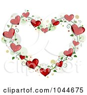 Royalty Free RF Clip Art Illustration Of A Heart Vine Frame With Dots by BNP Design Studio