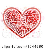 Royalty Free RF Clip Art Illustration Of A Red Heart Mosaic Over Circles