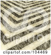 Royalty Free RF Clipart Illustration Of A Background Of Seamless Grungy Black And White Hazard Stripes