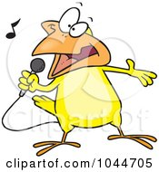 Royalty Free RF Clip Art Illustration Of A Cartoon Singing Canary by toonaday
