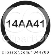 Royalty Free RF Clip Art Illustration Of A Black And White Round 14AA41 Text Message Icon