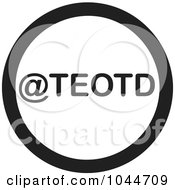 Royalty Free RF Clip Art Illustration Of A Black And White Round TEOTD Text Message Icon