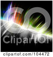 Royalty Free RF Clipart Illustration Of A Feathered Equalizer Bar On Black