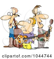 Royalty Free RF Clip Art Illustration Of A Cartoon Folk Music Band