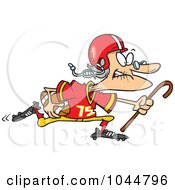 Royalty Free RF Clip Art Illustration Of A Cartoon Granny Football Player by toonaday